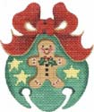 Jingle Bell Ornament with Gingerbread Man