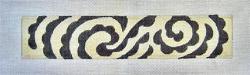 BRACELET CUFF - BLACK AND WHITE
